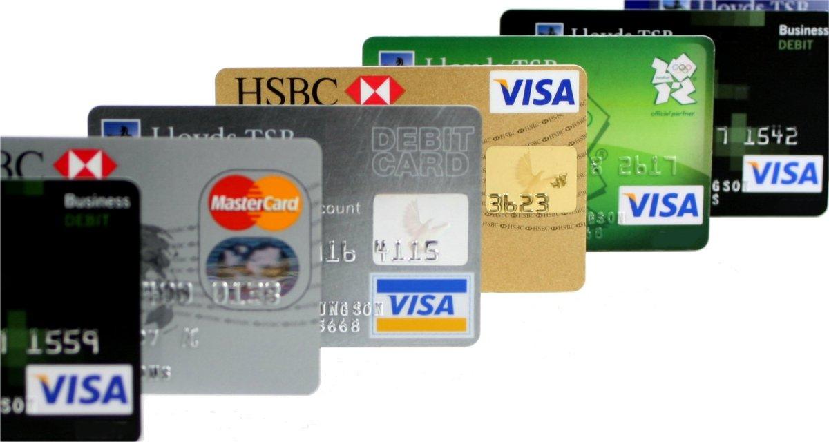 כרטיסי אשראי שונים